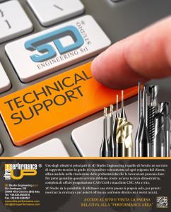 Technical Support - Slim Aluminum Keyboard Button. Hand Finger Press Technical Support Key. Modernized Keyboard with Technical Support Orange Button. 3D Illustration.